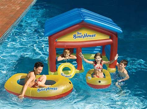 inflatable boat house boat house inflatable swimming pool float with boats