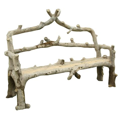faux bois garden bench faux bois quot bouleau quot garden bench gardens the o jays and