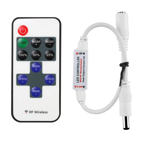 Led Light Strips With Remote Le Mini Remote Controller For Single Color Led Lights Le 174