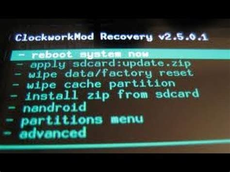 tutorial android recovery android tutorial custom recovery no lg p350 youtube