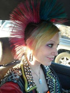 redhead women with spiked mohawk punk rock girls on pinterest pink hair red hair and punk