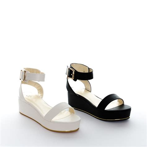 womens flatform sandals women s chunky flatform sandals gold trim wedge platform