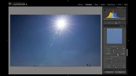lightroom 4 tutorial creating lens flare youtube adobe lightroom 5 edit sun flare lens flare photos