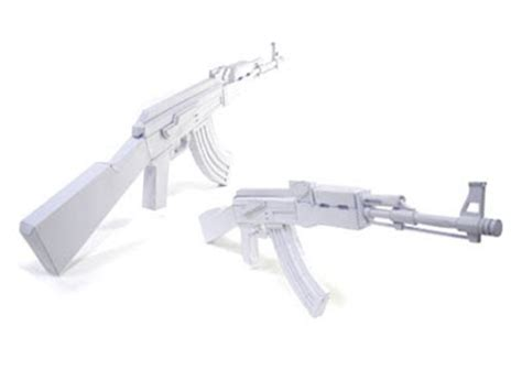 duckdesign ak47 paper gun model kit