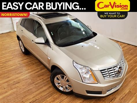 pre owned  cadillac srx luxury media screen moonroof awd