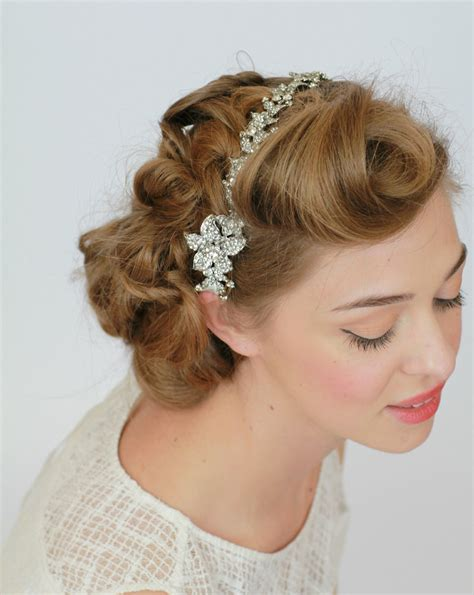 Vintage Bridal Hair Up by Vintage Wedding Hairstyles Images Photos Pictures