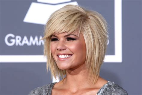 ppictures of razor cut bob hairstyles kimberly caldwell s blonde razored bob 2009 razored bob