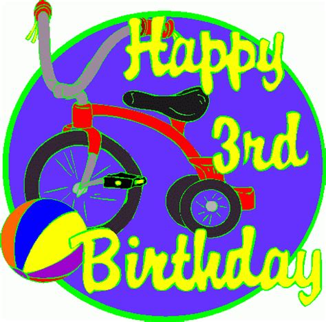 happy 3rd birthday images 3rd birthday clipart clipart suggest