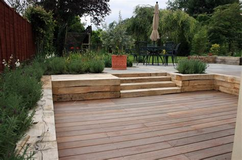 How To Level Your Backyard Landscape by Split Level Patio Home Out Door Rooms Gardens Stains And Decks