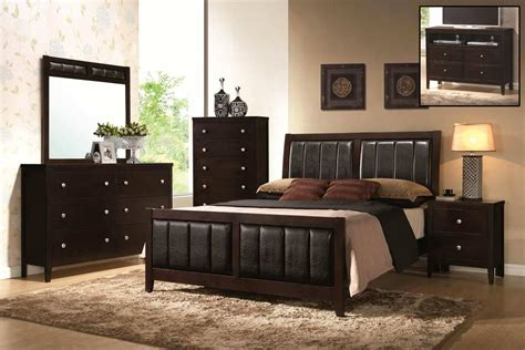 cappuccino bedroom furniture coaster carlton upholstered bedroom set cappuccino