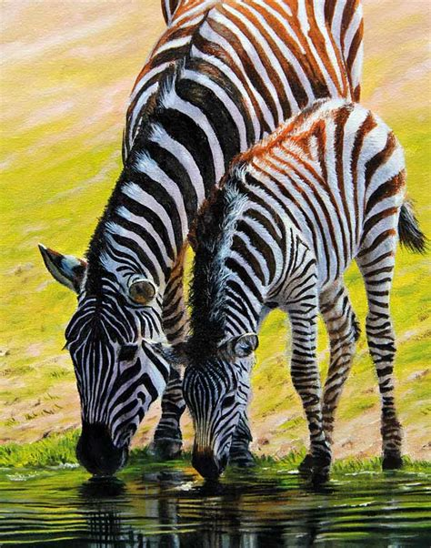 oil paintings printing for sale zebra canvas prints modern zebra and foal original painting for sale on ebay now