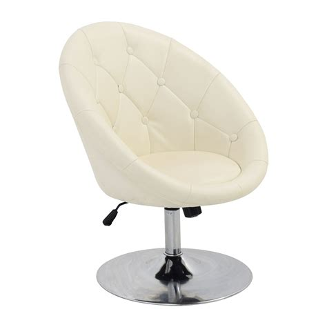 white leather chair 59 coaster coaster tufted white leather swivel