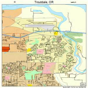 troutdale oregon map 4174850