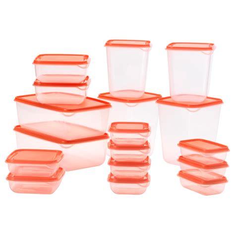 Ikea Pruta 3 pruta food container set of 17 transparent orange ikea