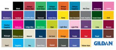 gildan colors impressive gildan t shirt color chart 6 gildan shirt