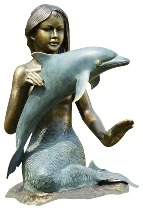 mermaid dolphin garden sculpture contemporary garden