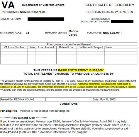 Service Letter Va Loan Entitlement