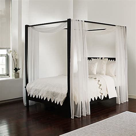 bed bath and beyond canopy bed curtains buy scarf sheet bed canopy curtain in white bedding