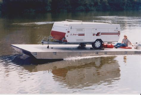 pontoon boat on car trailer 19 rvs that were turned into boats rvshare