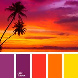 sunset color palette colors of sunset color palette ideas