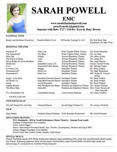 musical theatre resume examples musical theatre resume getessay biz musical theater resume best template collection