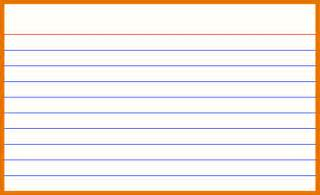 Index Card Template For Word by 3x5 Note Card Template Vertola