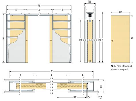 Kitchen Design Cad by Eclisse Syntesis Architrave Free Sliding Pocket Door System Double Door Kit To Suit 100mm