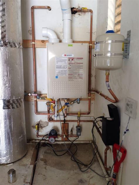 noritz tankless water heater installation with new