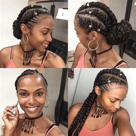 straight black hair pulled back in bun best 25 goddess braids ideas on pinterest black braided