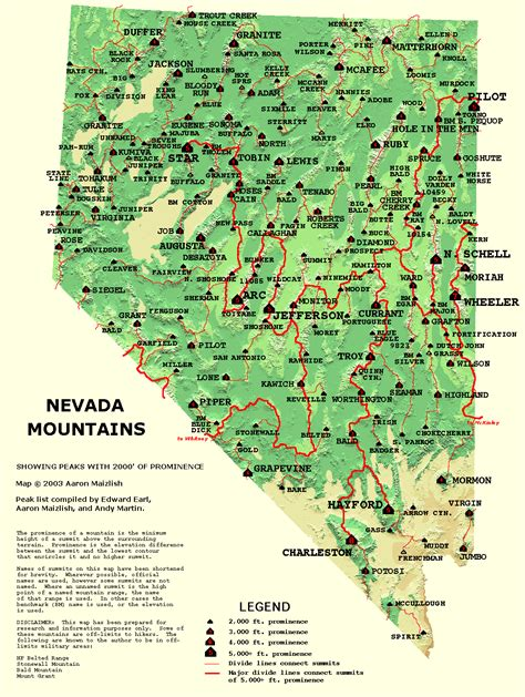 nevada map  large images
