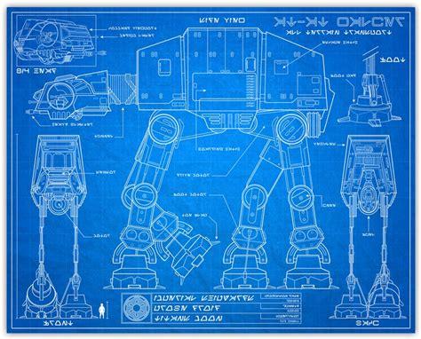 blueprint pdf wars blueprint style print 8x10 at at knerdkraft