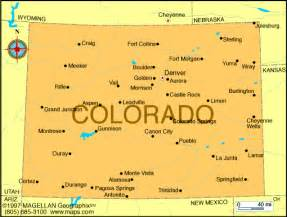 colorado state map cities atlas colorado