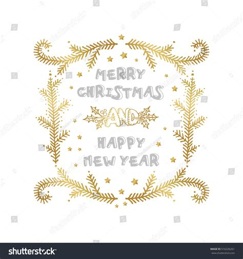 happy new year words merry happy new year words stock vector