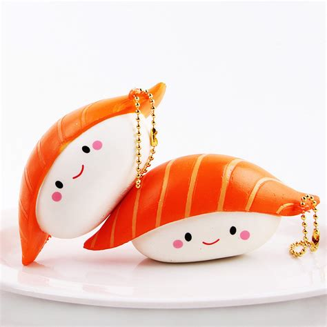 Sushi Squishy By Squishyfun sanqi elan squishy salmon sushi 12cm rising with