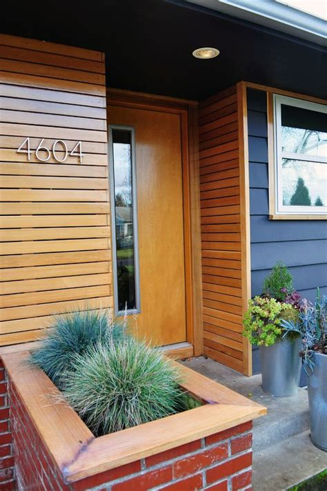 idea for wood metal mix decorations magnificent wood siding vogue portland midcentury entry
