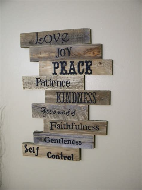 wood sign wall decor wood sign pallet sign pallet fruits of the spirit