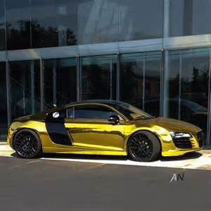 gold audi r8 looking bling of gold
