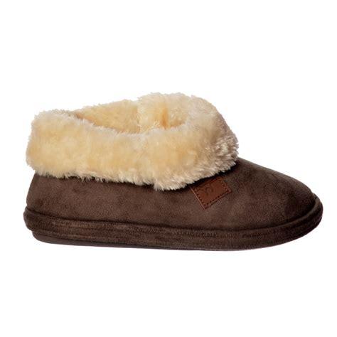 fur lined boot slippers jo joe chiltern fur lined fur collar slipper boot
