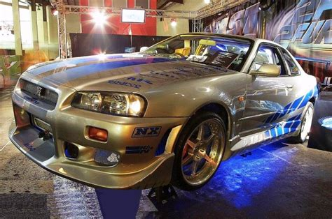 nissan skyline 2002 paul walker paul walker s cars in the fast and the furious movies