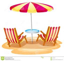 Pink Patio Umbrella A Stripe Beach Umbrella And The Two Wooden Chairs Stock