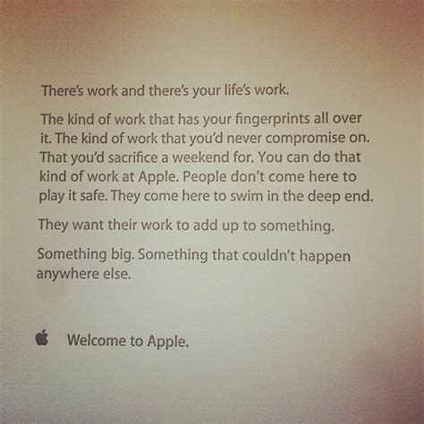 apple employee quot your life s work quot employee welcome letter from apple