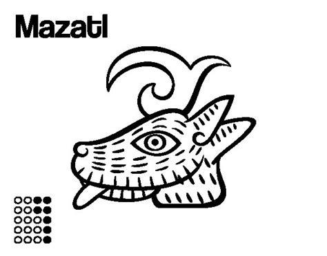 imagenes aztecas para descargar dibujo de los d 237 as aztecas el ciervo mazatl para colorear