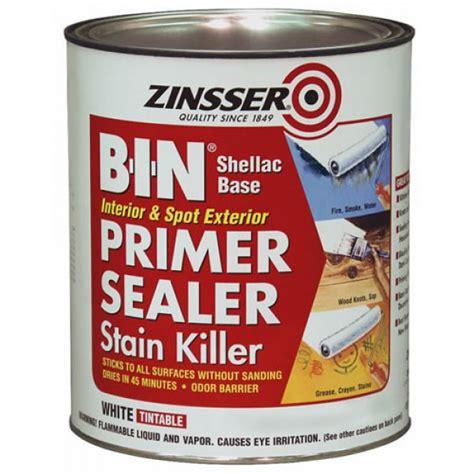 best zinsser primer for cabinets zinsser b i n primer sealer