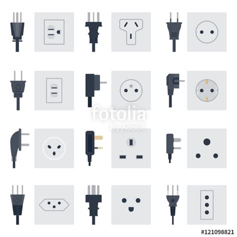 quot electric outlet illustration on white background energy