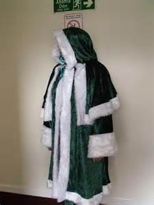 green velvet irish santa claus father christmas xmas suit