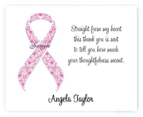 Thank You Letter For Donation For Breast Cancer 1000 Images About Thank You S On Thank You