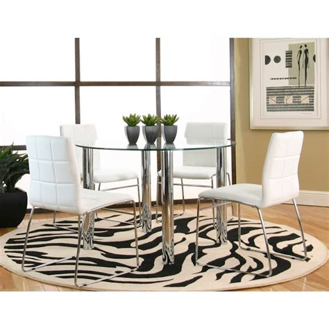 napoli white five dinette set bernie and
