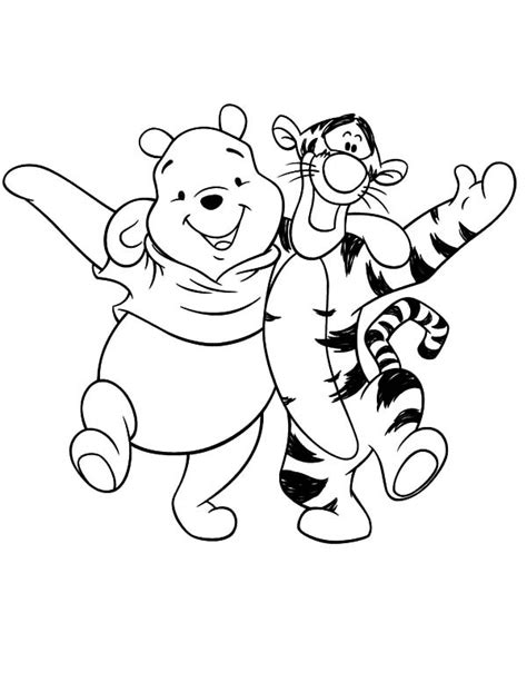 best friends winnie the pooh and tigger having fun
