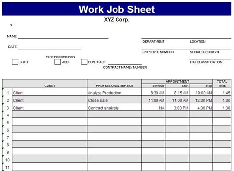 Daily Work Task Template daily work task list template this sheet is created by