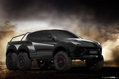 lambo truck a lamborghini urus 6x6 would make that mercedes look tame